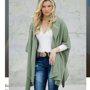 Military hippie sweater shawl